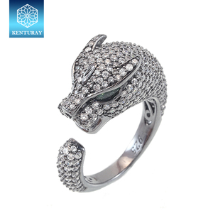 925 Sterling Silver Animal Beads Ring Price Silver Gram Leopard Head Animal Ring