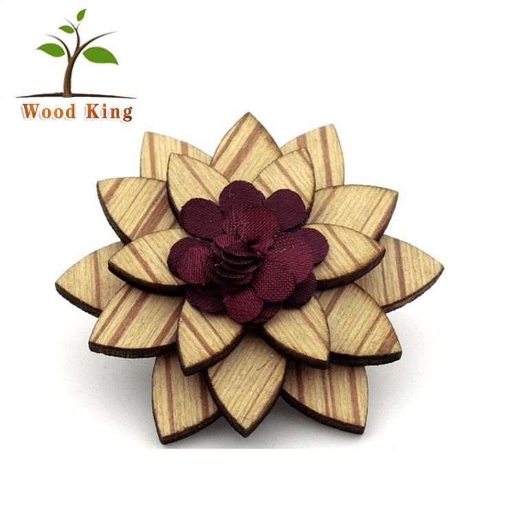 Pin a Corsage Wooden Man Suit Artificial Flower Wedding Corsage