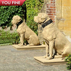 Outdoor Garden Decorated Dog Statues Stone Marble on Sale