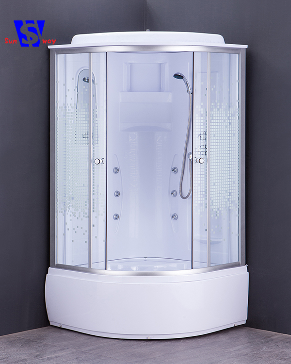 90*90cm Hot sales tempered glass cheap round Poland shower cabin