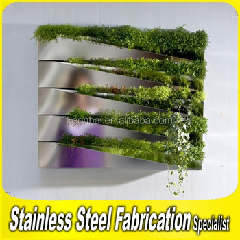 Stainless Steel Wall Hanging Flower Pot Hanging Planters