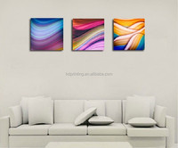 Modern home decoration wall art abstract stretched canvas painting 3 panels,