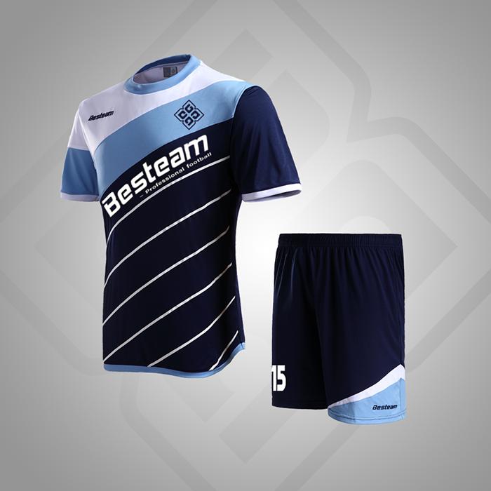 15b155eb95c5b Azul marino Azul Cielo Blanco de China de fábrica personalizada camisetas  de fútbol personalizada