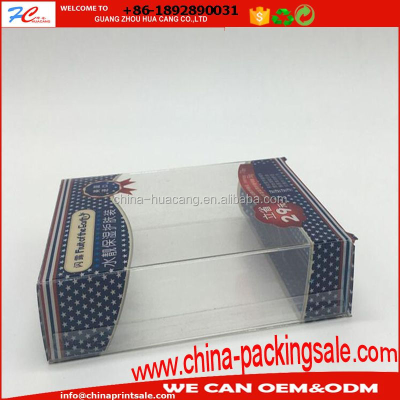 Transparent matte PVC packing box for necklace, jewelry