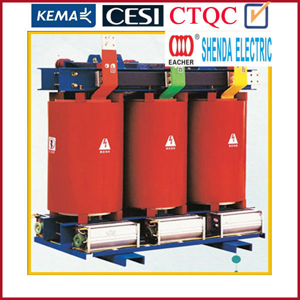 High quality epoxy resin cast dry type transformer 315kva