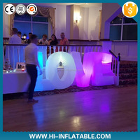LED product inflatable letters giant for wedding decorations