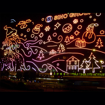 Beautiful 3d Effect Wall Decoration Of Christmas Lighting Effect ...