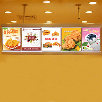 Restaurant Indoor LED Menu Light Boxes Wall Advertising Display Aluminum Frame LED Light Box Menu Board