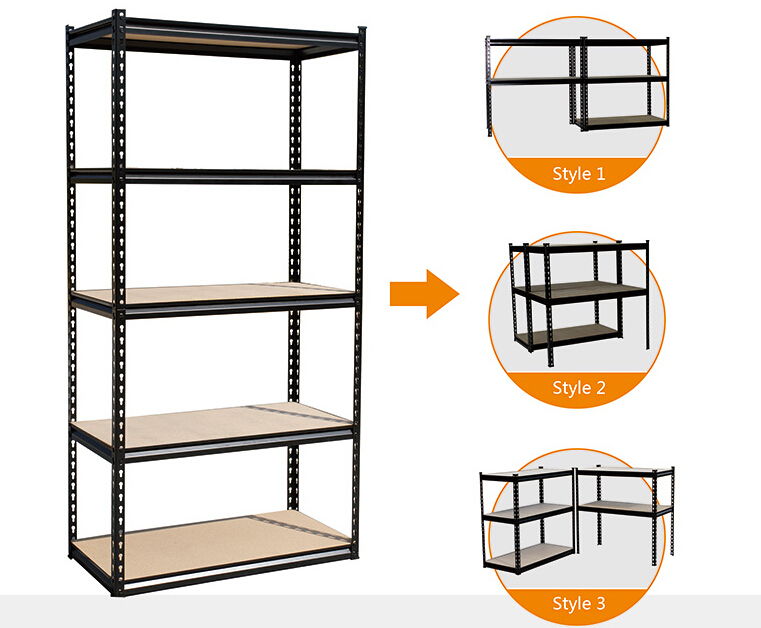 Warehouse industrial storage rack heavy duty industrial  boltless rivet racking shelving