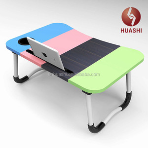 Portable Laptop Table Foldable Durable Design Stand Desk Adjustable Angle Height Notebook Holder Breakfast Tray