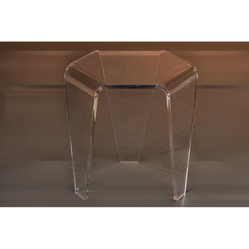 Tri Leg One Piece Small Clear Acrylic Side Table - Buy Cool Side ...