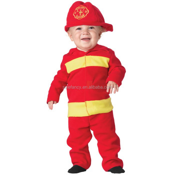 red Fire Fighter Baby halloween costumes for kids fireman costume QBC-9162  sc 1 st  Alibaba & Red Fire Fighter Baby Halloween Costumes For Kids Fireman Costume ...