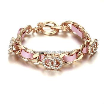 Gold Bracelet Jewelry Design For Girls Birthday Gift