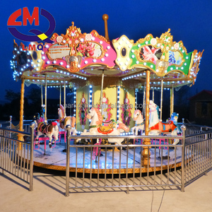 High Quality mini carousel horses rides carrusel kids ride on machines Little carousel