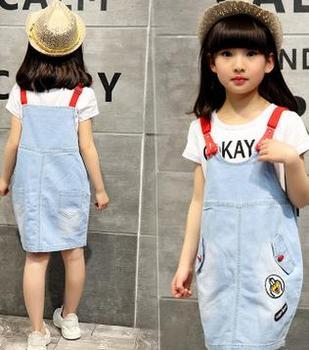 3796926dcc4d Korean Style Children Suspender Skirt 2pcs Designs Fashion Girls ...