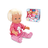 Warmbaby hot selling 12 inch kids smart boy and girl lovely talking toy doll with feeding tools