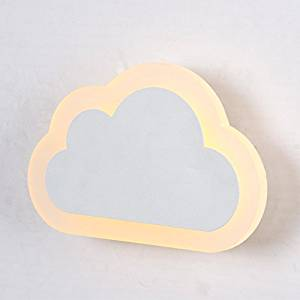Modern decorative wall lamp LED acrylic wall lamp bedside lamp modern minimalist creative baby bedroom wall lamp children clouds , clouds wall lamp 8w-n- white
