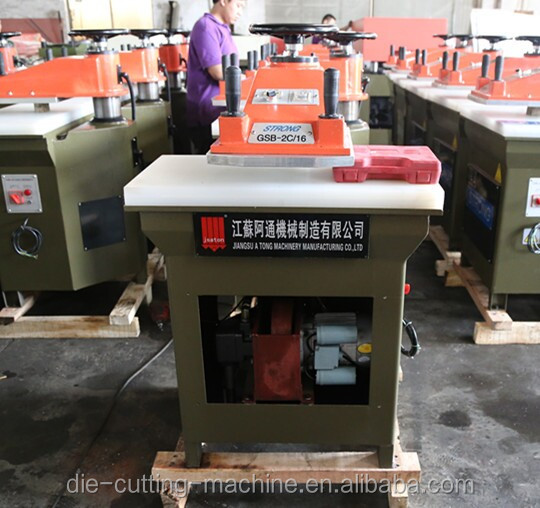 hydraulic swing arm leather clicking machine