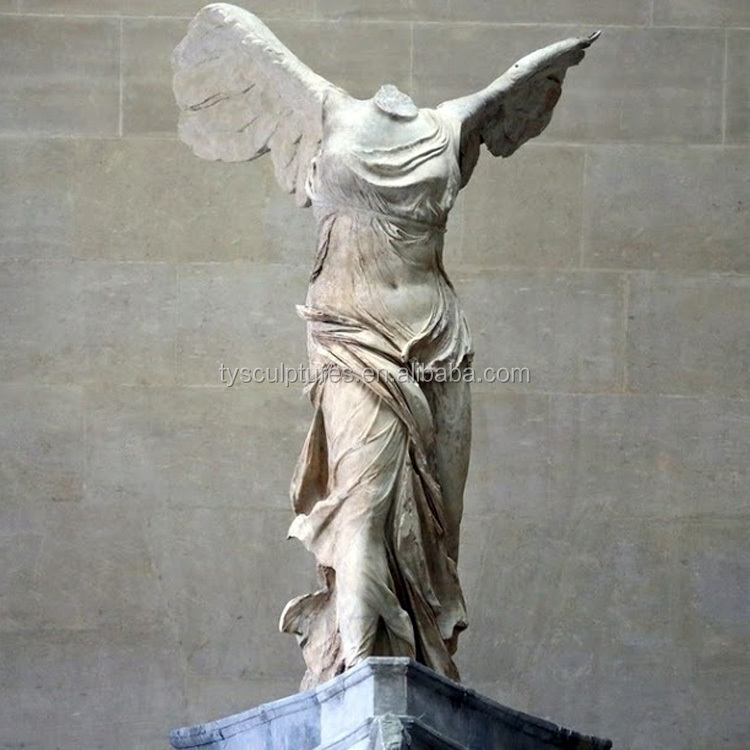 Famous stone headless victory angel samothrace marble statue for decoration