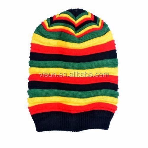 Unisex Stricken Rasta Häkeln Slouchy Tam Bob Marley Reggae Jamaika ...