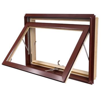 Aluminum Cladding Wood Awning Window With Locks Top Hung Windows