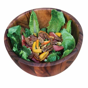 100% Natural Acacia Wood Bowl with Competitive Price