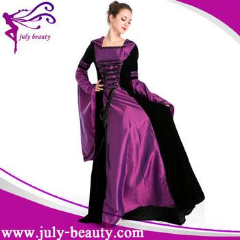 Purple Wholesale Renaissance Medieval Game Costume Lady Cosplay ...