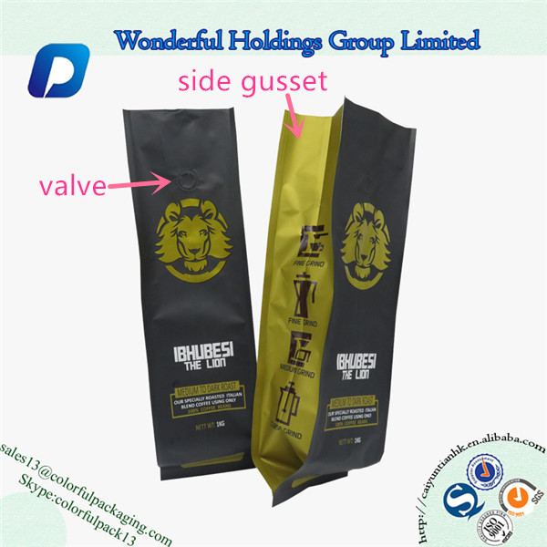 Coffee Packaging Bag With Valve 5lb 2 Oz Bags