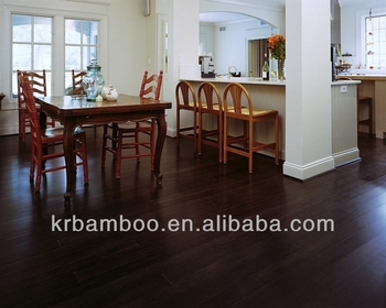 Chinese leverancier kanger walnoot streng geweven bamboe vloeren