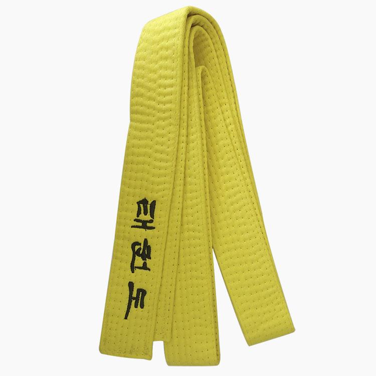 Cintur/ón amarillo de k/árate taekwondo judo