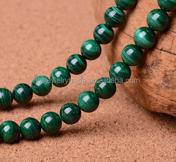 6mm 8mm 10mm AAA Natural Malachite Round Beads Factory Wholesale