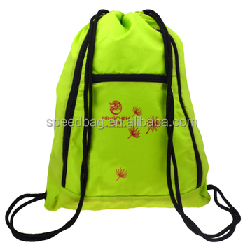 wholesale outdoor sports polyester gym printed drawstring backpack bag