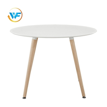 Simple Design Particle Board White Round Modern Coffee Table Dine Wooden Tables Coffer Product On Alibaba