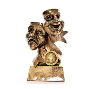 custom metal Drama Masks Trophy for souvenir