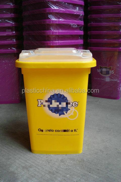 50l Déodorant Cuisine Jaune En Plastique Poubelle / Poubelle ...
