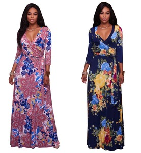 Sublimation Printing Latest Long Evening Dress For Fat Women Ladies