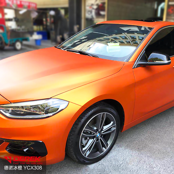 Orange Matte Chrome Car Wrap Vinyl For Vehicle Wraps - Buy 3m Vinyl Wrap  Matt Metallic,Chrome Blue Car Wrap Vinyl,Vehicle Wrap Clear Vinyl Product  on