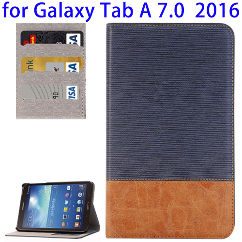 Cross Texture Leather Case for Galaxy Tab A 7.0, PU Case for Samsung T280