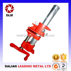 OEM malleable cast iron frame with I-beam design and plated threaded screw panel veneer Woodworking Pipe Clamp