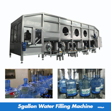 1000bph 5 Gallon Bottle Washing Filling Capping Machine / Water Filling Machine