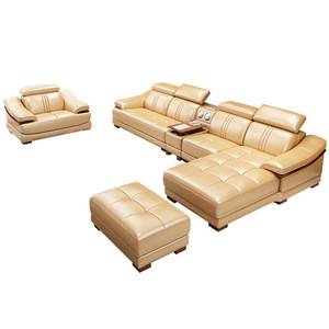 Modern Genuine Leather Living Room 7 Seater Sofa Sectional Sofa