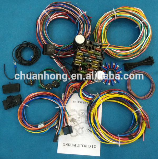 cnch14 circuit hotrod wiring kit relay fuse box panel chevy mopar ford universal wire harness factory buy 14 circuit wire harness 14 fuse box