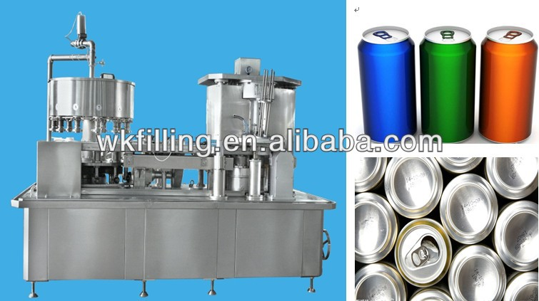 High Quality Aluminum Can Filling & Sealing Machine For Beverage