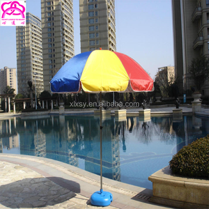 Most competitive 2m colored elargol coated polyester fabric outdoor beach umbrella parts