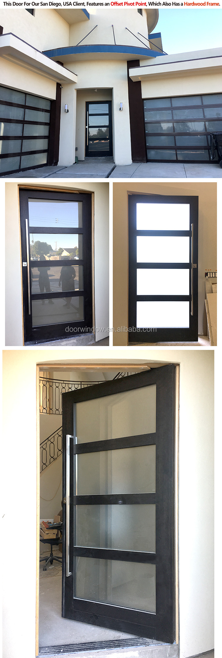 ultra clear tempered glass two- fixed casement door