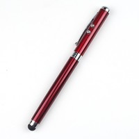Hot Sales 4 in 1 LED Light Red Laser Pointer Stylus Led Ball Pen