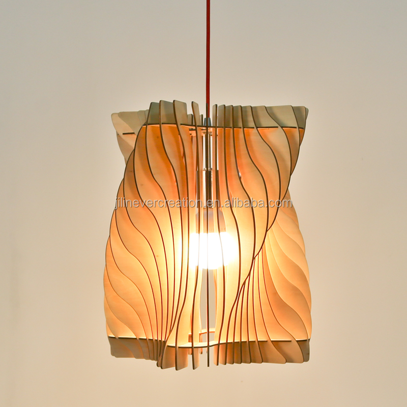 plywood interior decoration wooden pendant light