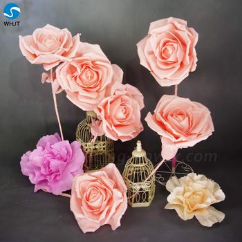 Handmade artificial decoration wall giant paper flower wedding handmade artificial decoration wall giant paper flower wedding backdrop decoration flower mightylinksfo