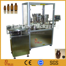 Automatic medicine liquid bottle Filling & Rubber Stoppering Capping Monoblock Machine
