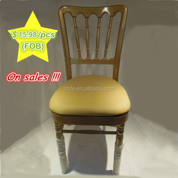 Wholesale D-133-gold/sliver chivari chair for wedding party used, promote price with activity seat cushion hotel furniture